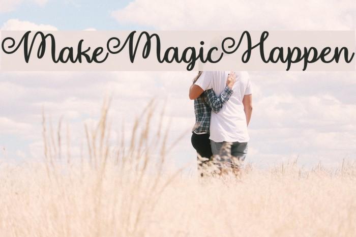 MakeMagicHappen Font examples