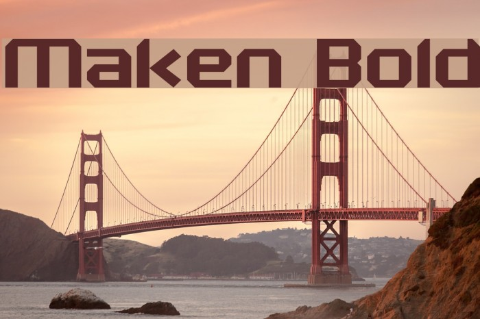 Maken Bold Font examples