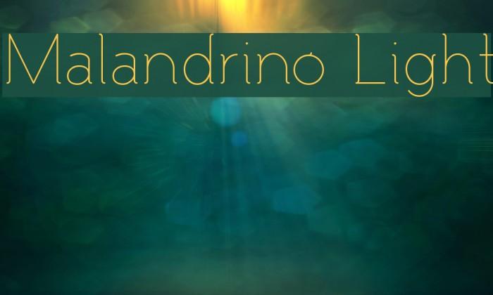 Malandrino Light Caratteri examples