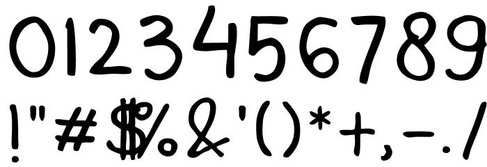 Mala's Handwriting Шрифта ДРУГИЕ символов