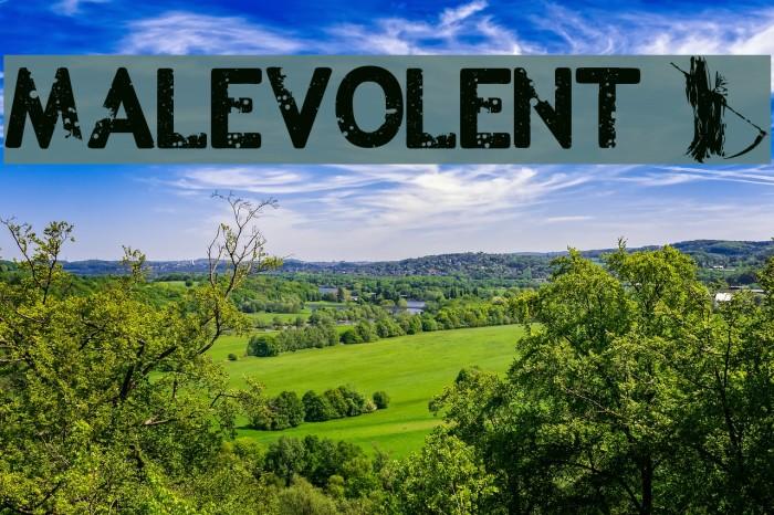 Malevolent z Font examples