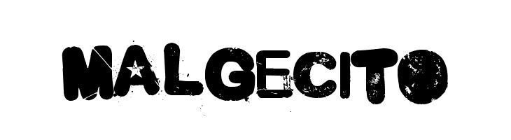 Malgecito  नि: शुल्क फ़ॉन्ट्स डाउनलोड