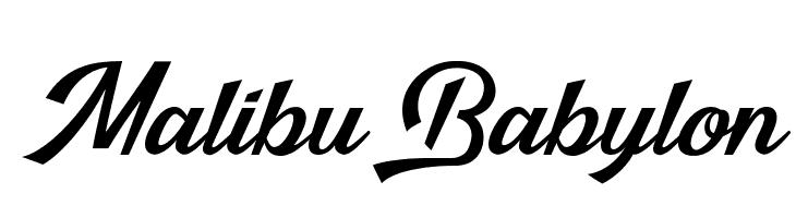 Malibu Babylon Schriftart