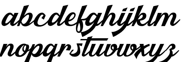 Malibu Babylon Schriftart Kleinbuchstaben