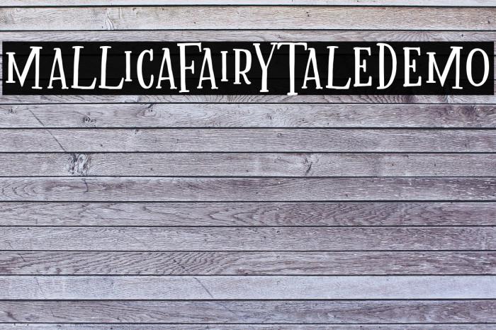 MallicaFairytaleDEMO Font examples