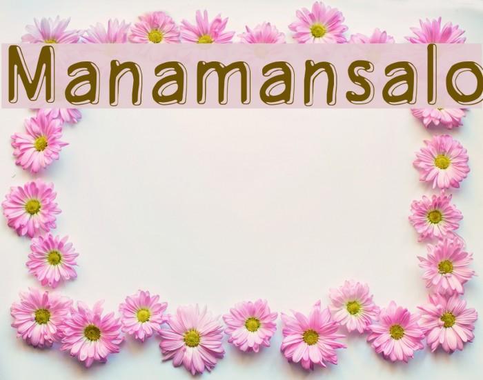 Manamansalo Font examples