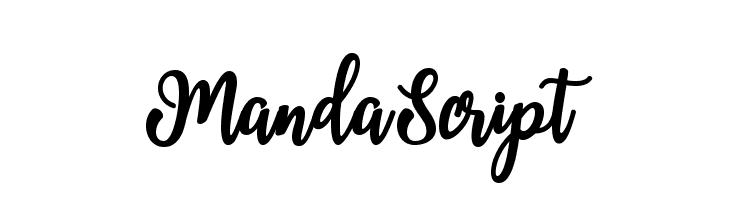 MandaScript Schriftart