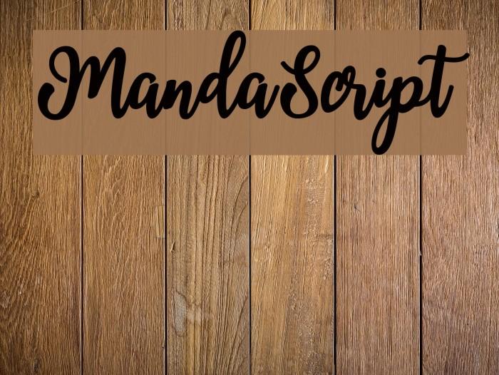 MandaScript Fonte examples