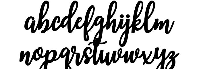 MandaScript Schriftart Kleinbuchstaben