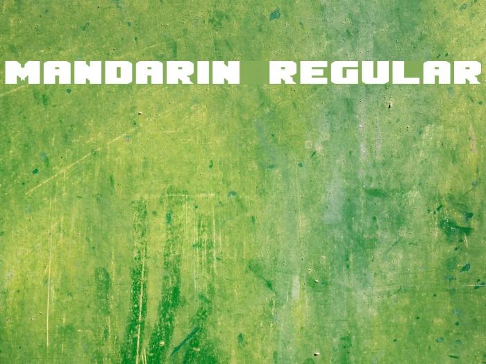 Mandarin Regular Schriftart examples
