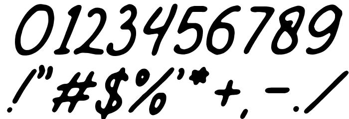 Mandatory-Script Шрифта ДРУГИЕ символов