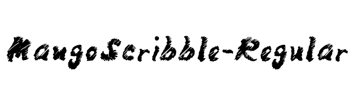 MangoScribble-Regular  Free Fonts Download