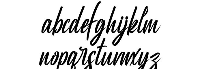 Manhatoones Script Caratteri MINUSCOLO