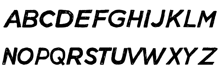 Manhattan Hand Normal Italic Fonte MAIÚSCULAS