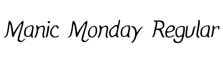 Manic Monday Regular  Free Fonts Download