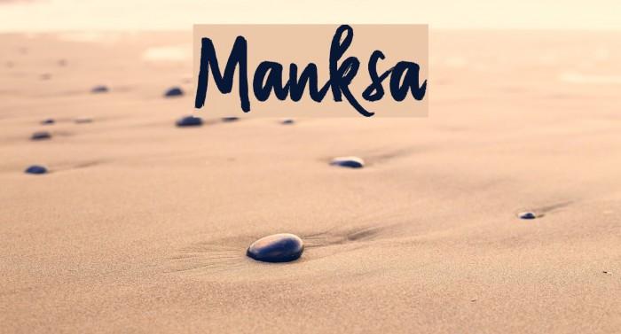 Manksa Font examples