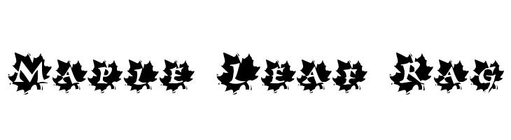 Maple Leaf Rag  Free Fonts Download