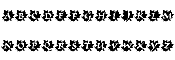 Maple Leaf Rag Font LOWERCASE