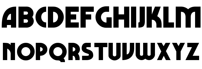 Marbold Normal Font UPPERCASE