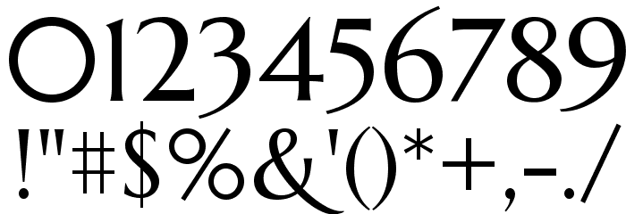 Marcellus Font OTHER CHARS