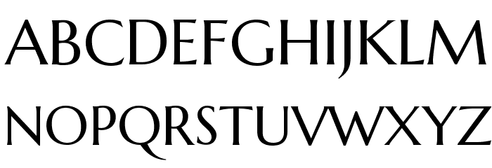 Marcellus Font UPPERCASE
