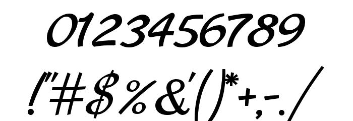 Marck Script Font OTHER CHARS