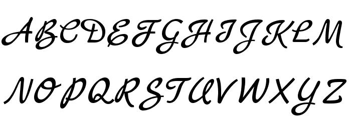 Marck Script Font UPPERCASE