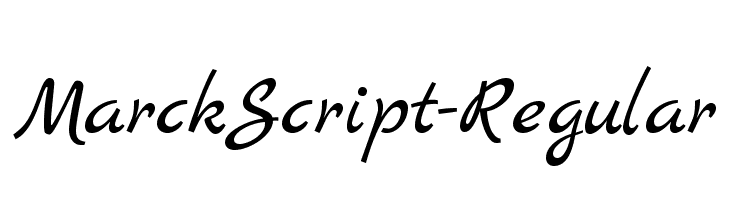 MarckScript-Regular  Free Fonts Download