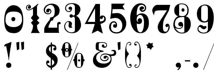 MardiGras Font OTHER CHARS