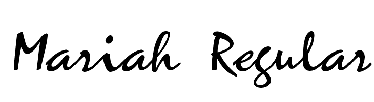 Mariah Regular  Free Fonts Download