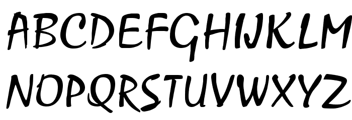 Mariah Regular Font UPPERCASE