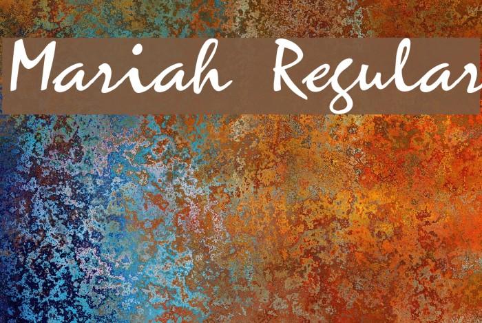 Mariah Regular Font examples