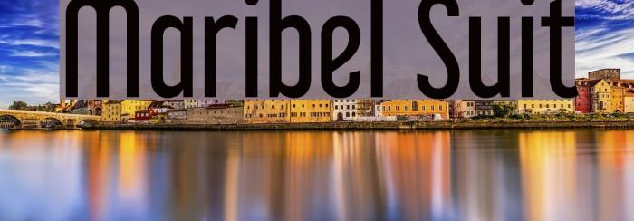 Maribel Suit Font examples