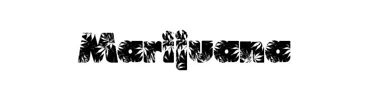 Marijuana  Скачать бесплатные шрифты