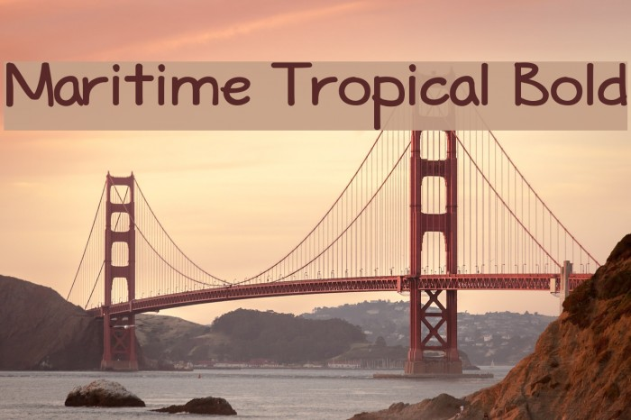 Maritime Tropical Bold Font examples