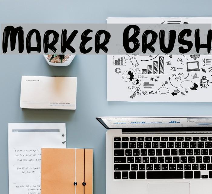 Marker Brush Fonte examples