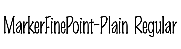MarkerFinePoint-Plain Regular  Free Fonts Download
