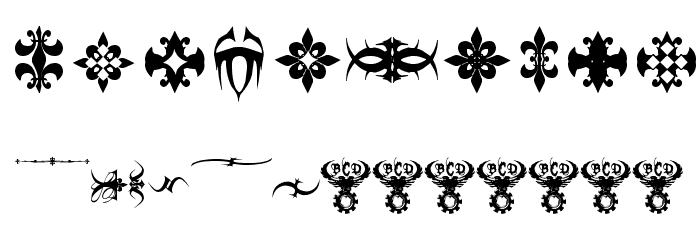 Marquis De Sade Ornaments Font OTHER CHARS