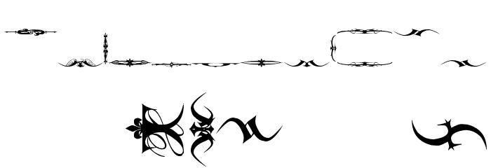 Marquis De Sade Ornaments Font LOWERCASE