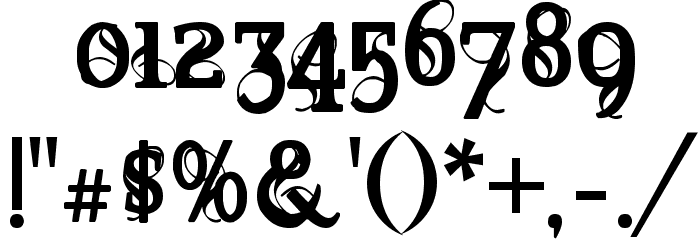 Marquis De Sade Font OTHER CHARS