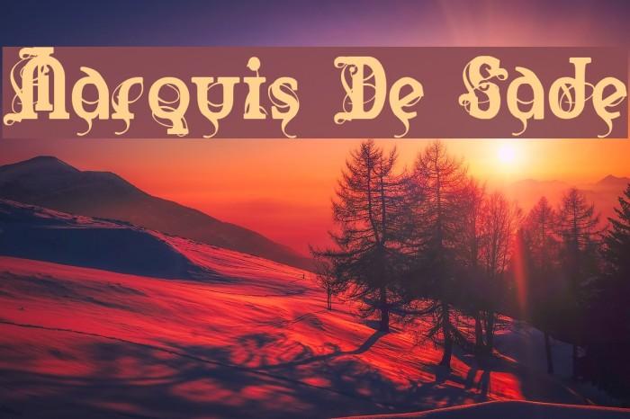 Marquis De Sade Font examples