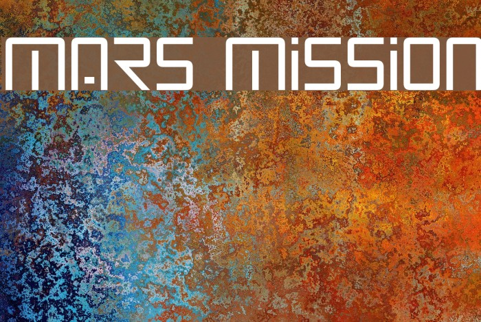 Mars Mission フォント examples