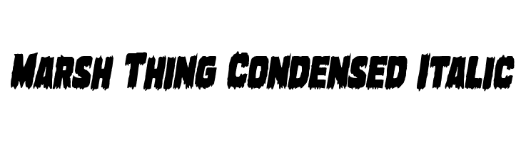 Marsh Thing Condensed Italic  Free Fonts Download