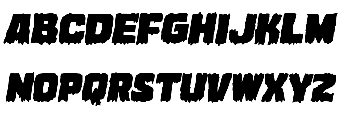 Marsh Thing Expanded Italic フォント 大文字