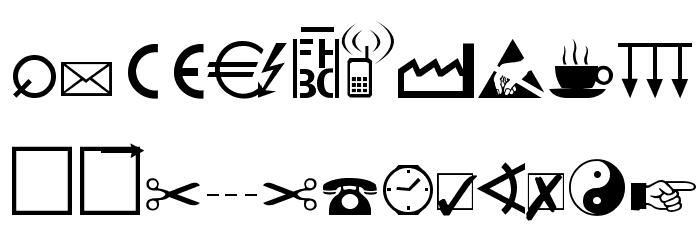 Martin Vogel's Symbols Font UPPERCASE