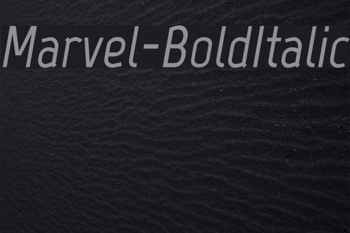 Marvel-BoldItalic Font examples