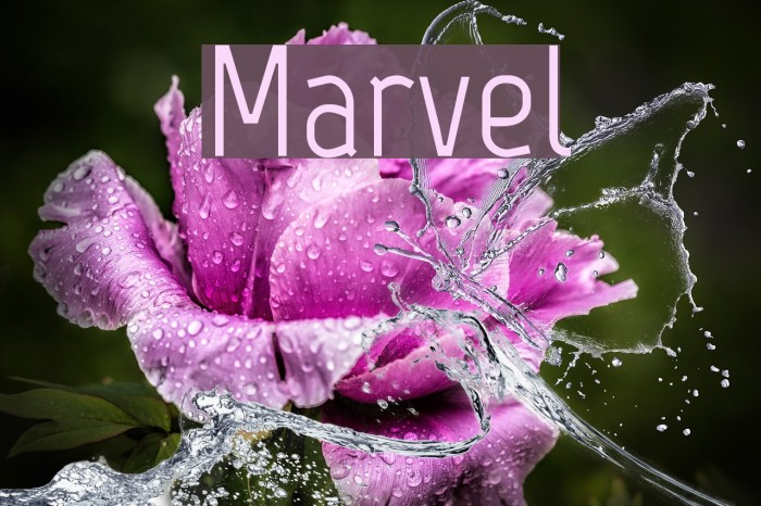 Marvel Font examples