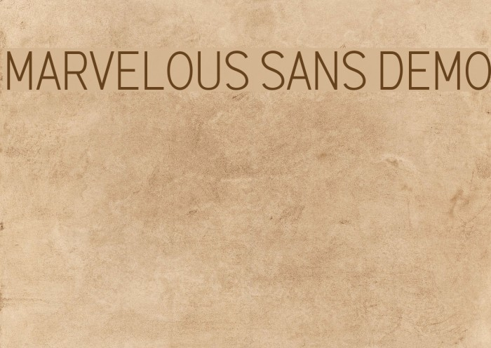 Marvelous Sans Demo Шрифта examples