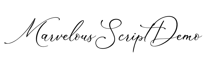 Marvelous Script Demo  Fuentes Gratis Descargar