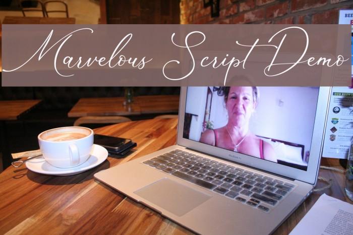 Marvelous Script Demo لخطوط تنزيل examples
